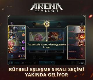 Arena of Valor'da Kahraman Engelleme Özelliği Geliyor