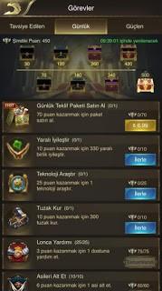 Fetih Altın Çağ paket satın almadan görevi tamamlayamama