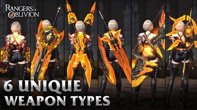 Rangers of Oblivion silahlar ve özellikleri