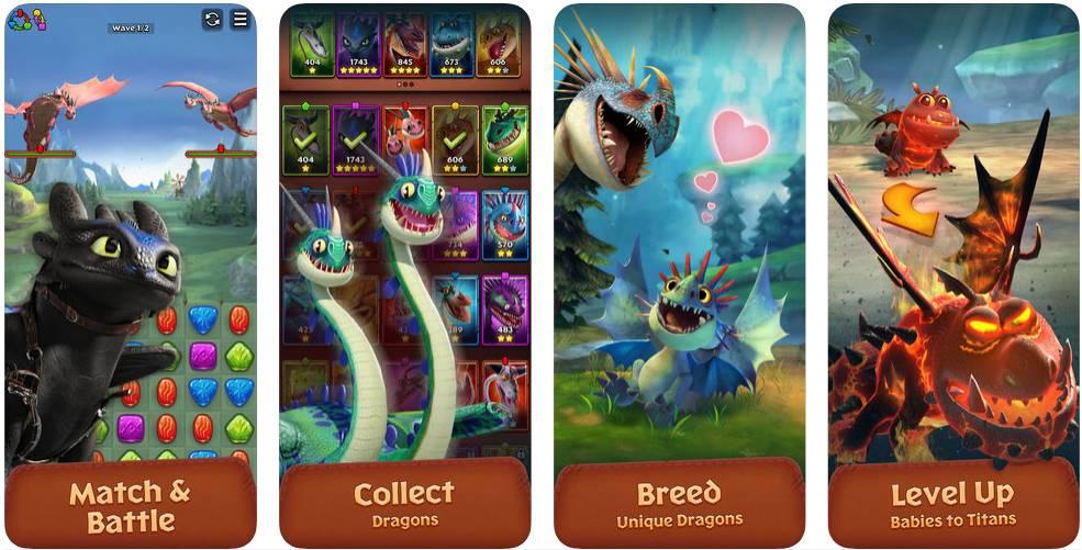 dragons titan uprising renk eşleştirme mobil oyun