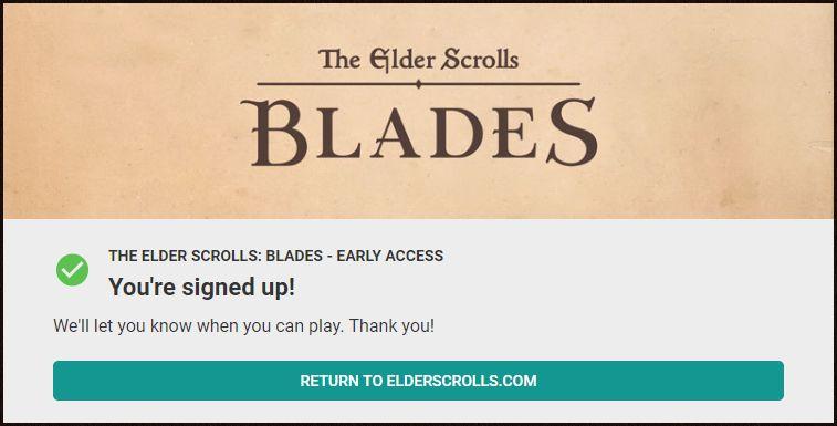 elder scrolls blades erken erişim rpg