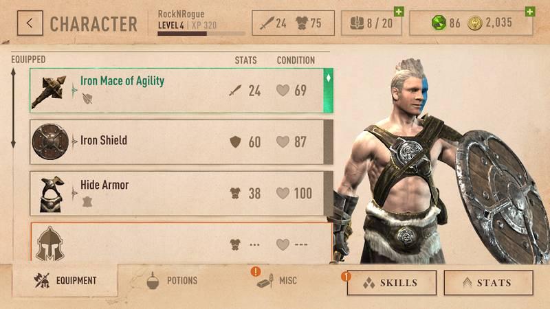 elder scrolls blades karakter
